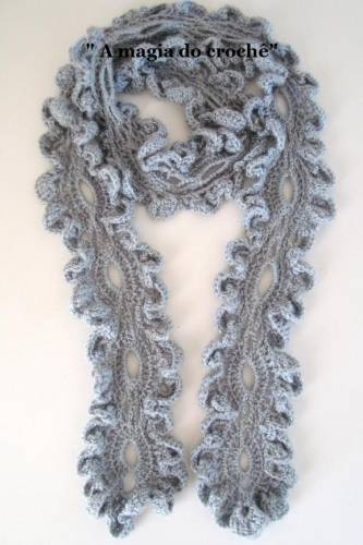 Вязанные шарфы крючком схемы
