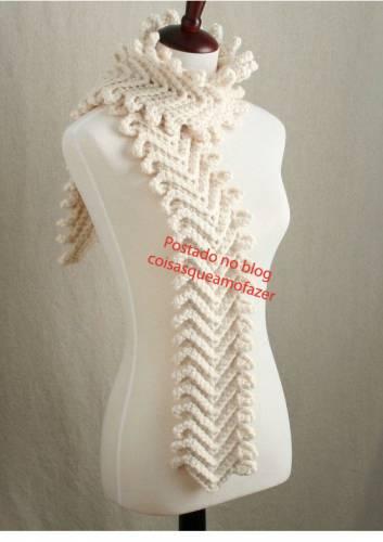 модные шарфы связать.
