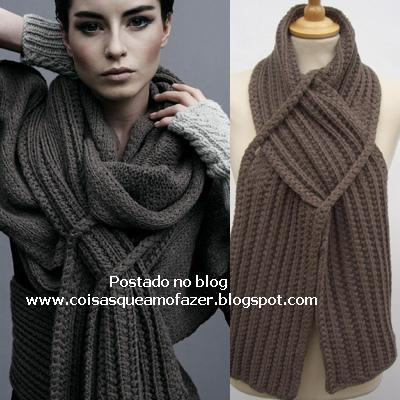 Зимний шарф связанный