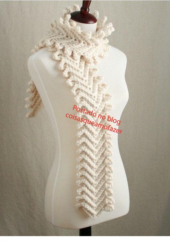 Скажите, а как связать такой шарф.  Есть только картинка, а схемы нет.  Очень понравился.