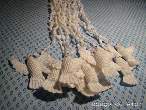 вязание крючком голуби схемы