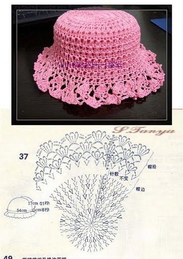 Схема вязания крючком розовой