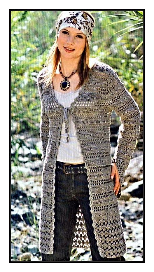 Схемы вязания кардиганов спицами.  Вязание пончо спицами.
