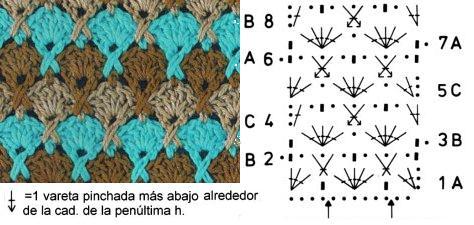Схемы вязания из цветной пряжи