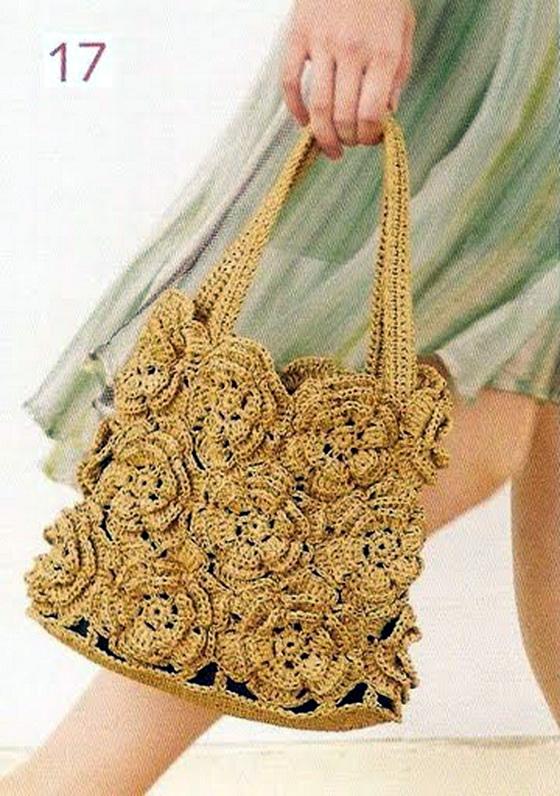 Схема вязания крючком сумки