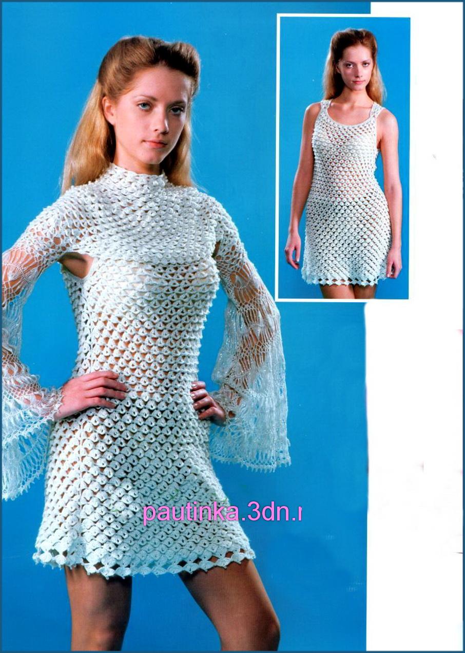 Уроки вязания женских платьев крючком