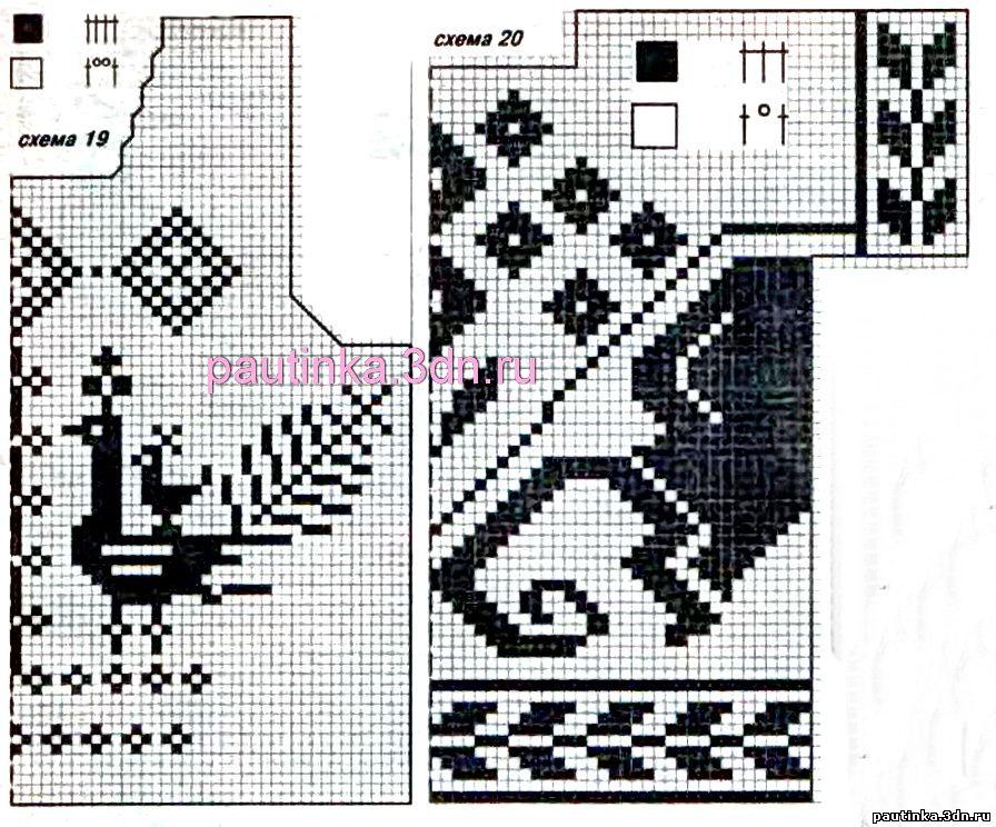 филейного вязания - Схемы вязания