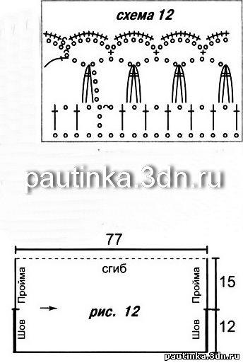 Схема вязания крючком болеро