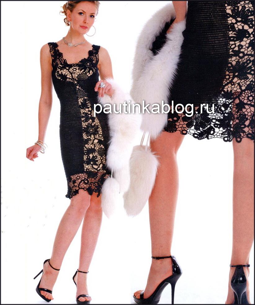 вязание крючком платья со схемами для женщин