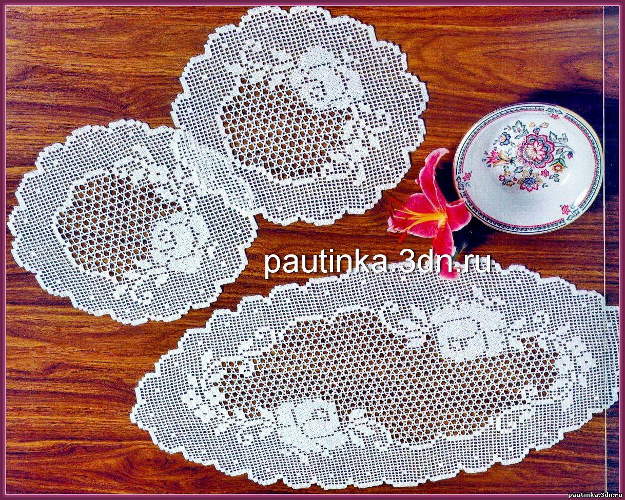 Вязание круглых салфеток крючком схема