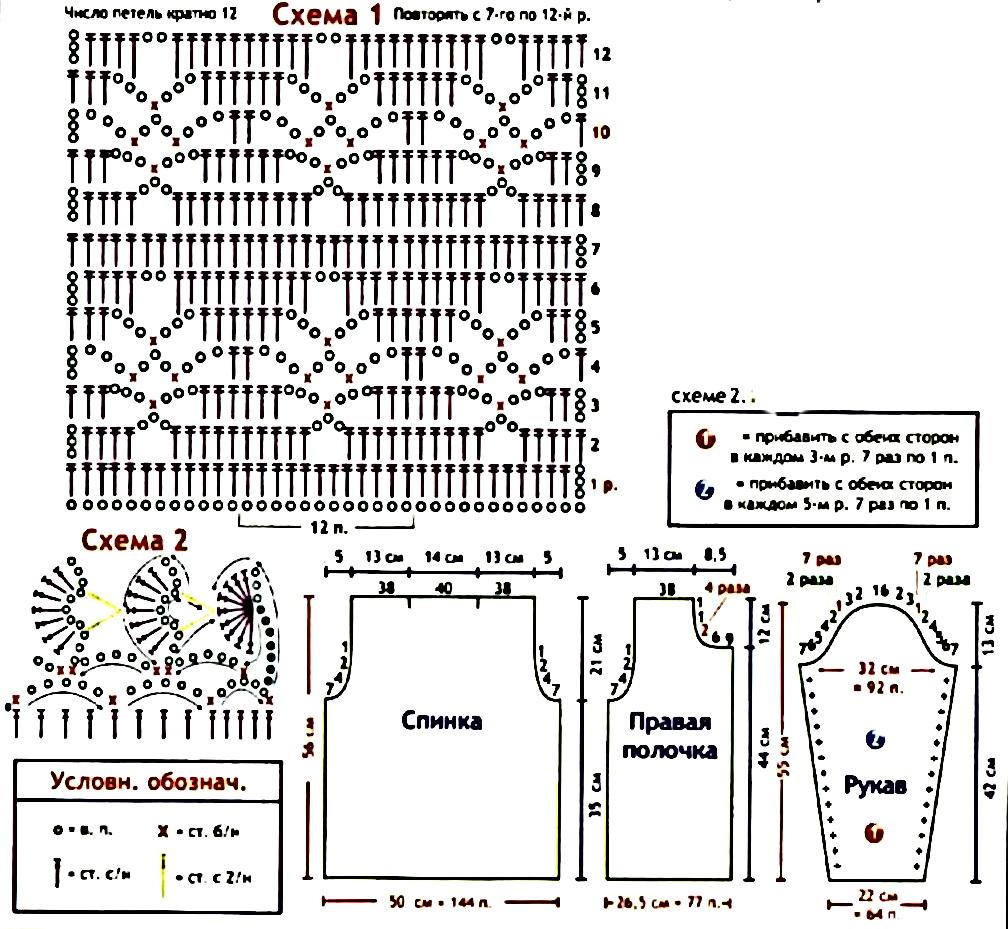Вязание крючком кофты со схемами для детей 99