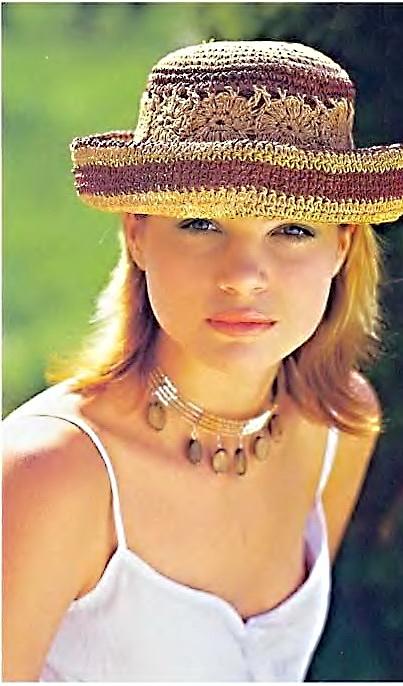 Летняя шляпка, связанная