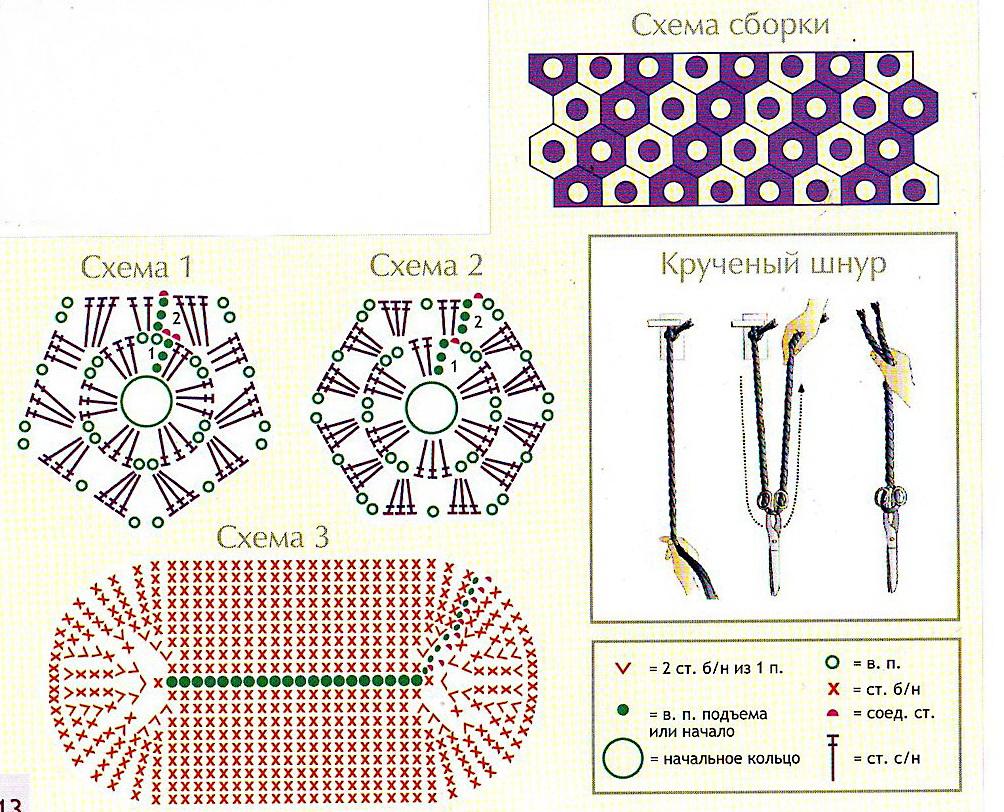 Вязание крючком схемы рюкзаков 38