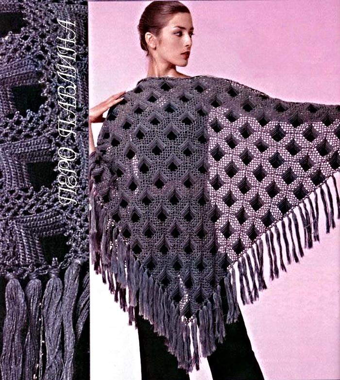 Схема вязания шали.