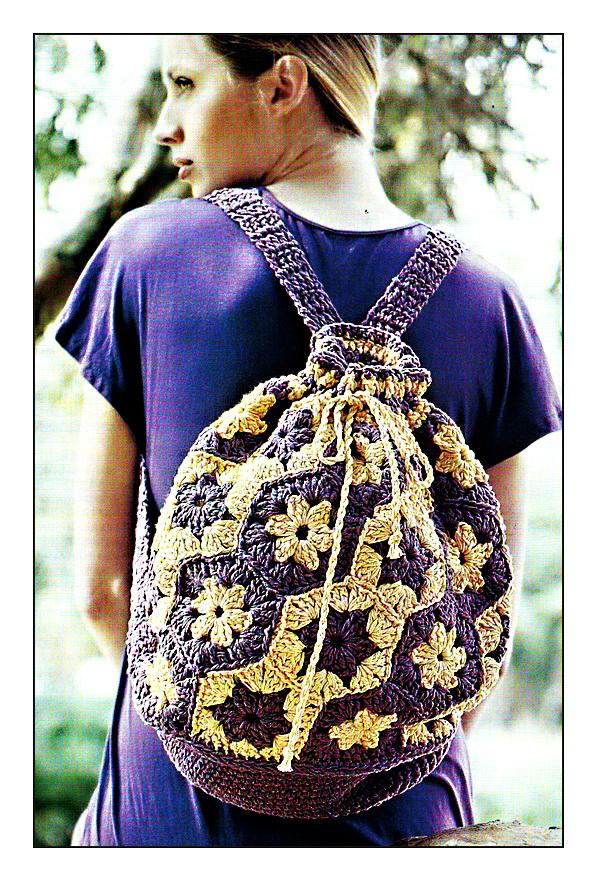 Вязание сумки крючком, схема.