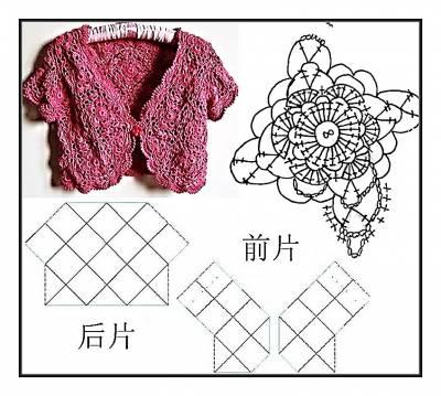 одежда. вязание крючком болеро схемы