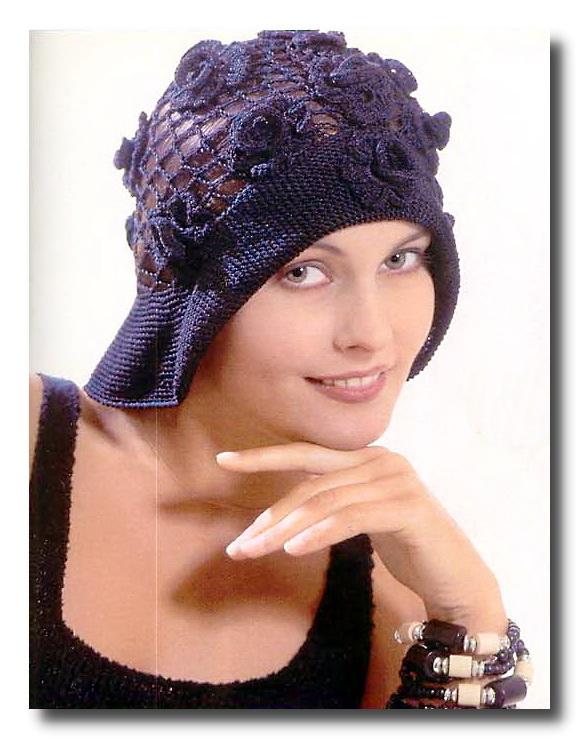 Вязаная летняя шляпка