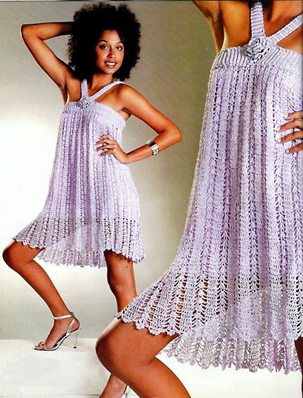 Ажурное вязанное платье крючком для женщин.  В контакте свадебные платья.