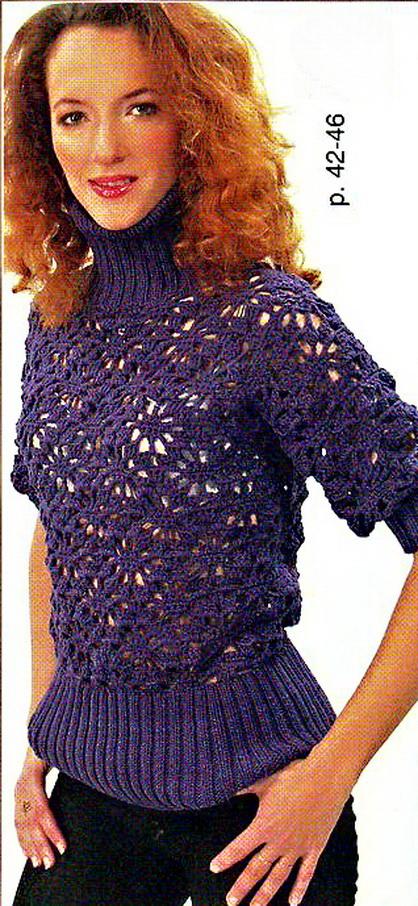 Другие рубрики.  Схемы вязания крючком кофт.  Женские ажурные кофточки со схемами - вязание крючком Вязание крючком.