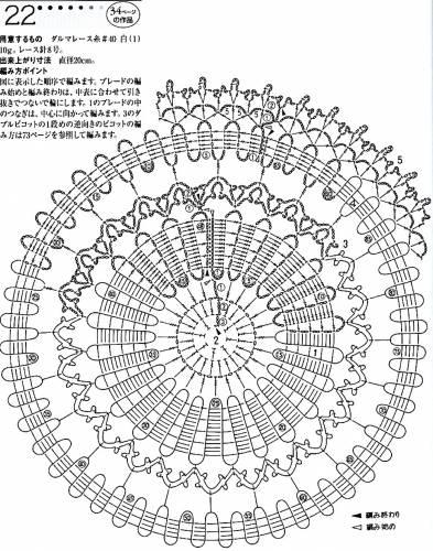 20 вариантов круглых салфеток 39
