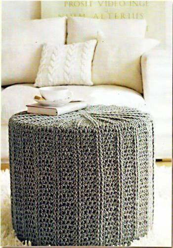 Журнальный столик. Схема вязания крючком. 22297