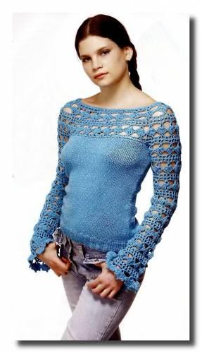 Описание: для вязания пуловера из мохера - Все о.