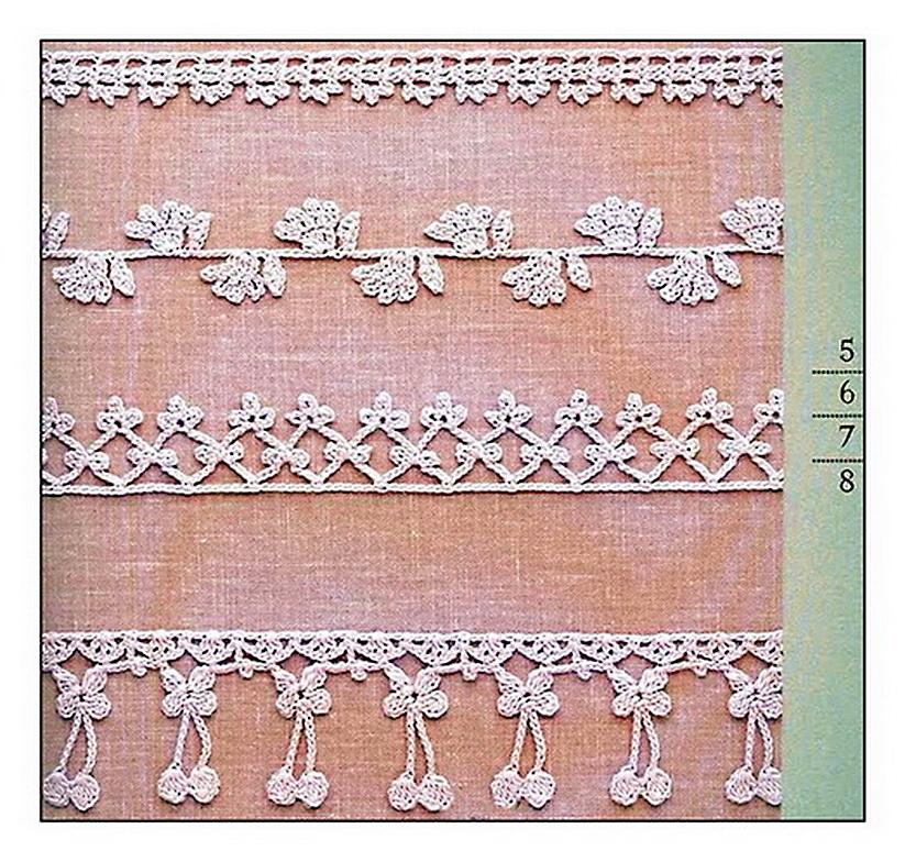 Кофточка с цветочной каймой,связанная крючком.  Способы и приемы вязания.  Вяжем из остатков ниток.