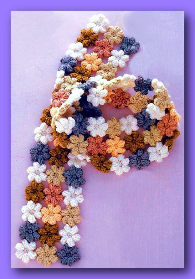 Вязание крючком шарфа схемы и