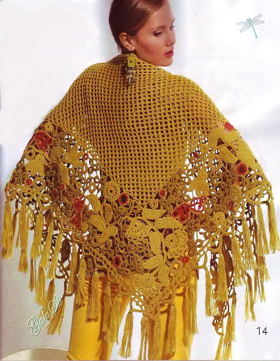 Рубрики и метки Вязание для женщин. шаль крючком схема. хобби - вязание крючком.  Схемы ... салфетку для ... подарила...