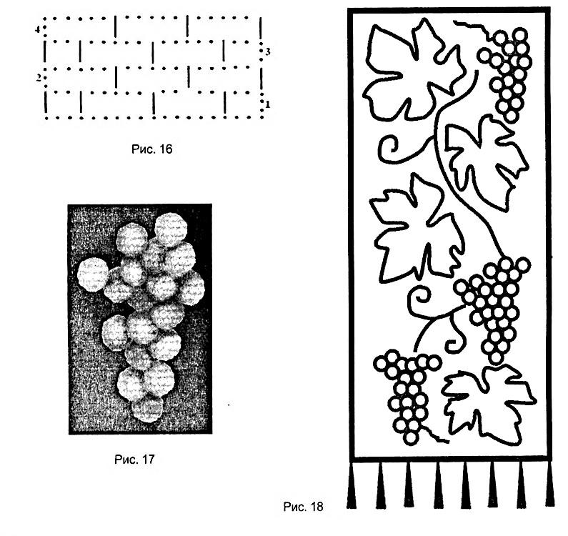 Схема рисунка виноградная лоза