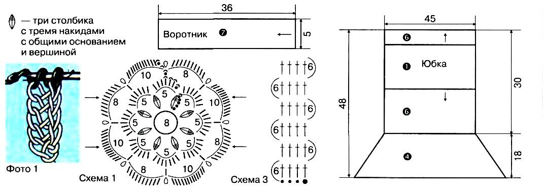 вязаная крючком ворона схема и описание