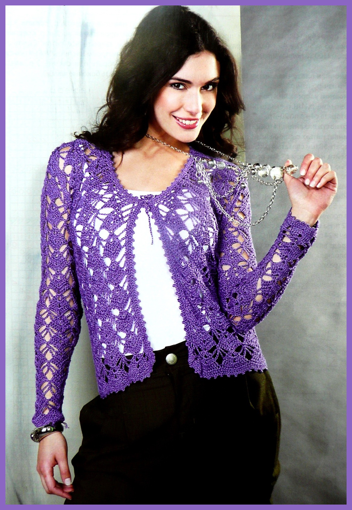 1 отзыв.  Метки.  Вязание для женщин. крючком. жакет, пуловер.  Нарядный.