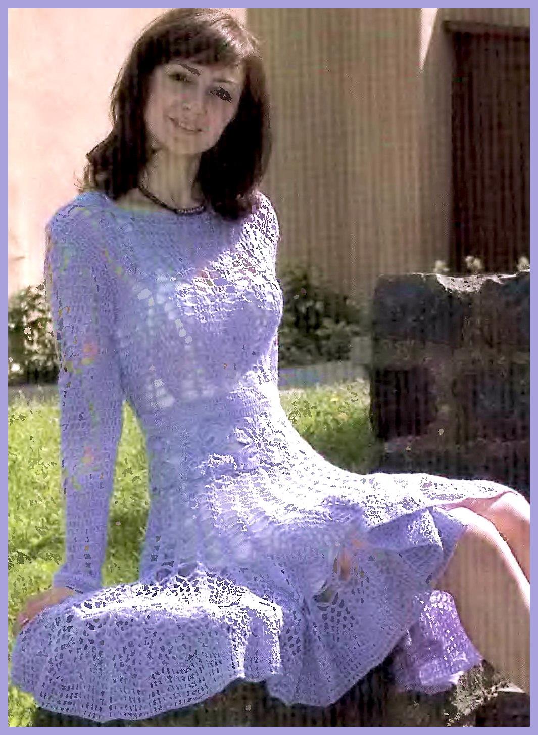 Вязание платья и юбки схемы