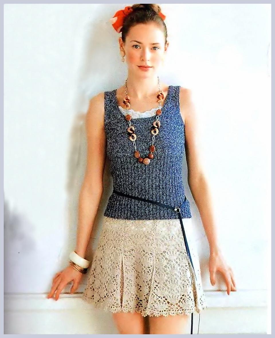Теги: юбка вязание крючком схема.