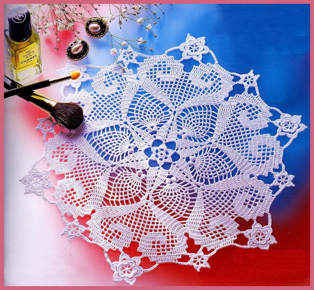 Схема вязаной салфетки.