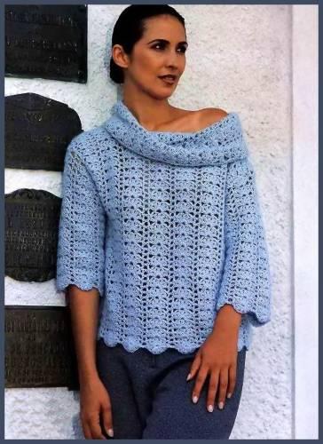 Скачать схемы вязания пуловеров для полных женщин.