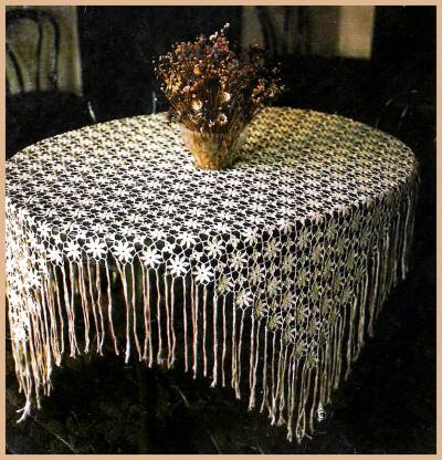 Схема вязания скатерти.
