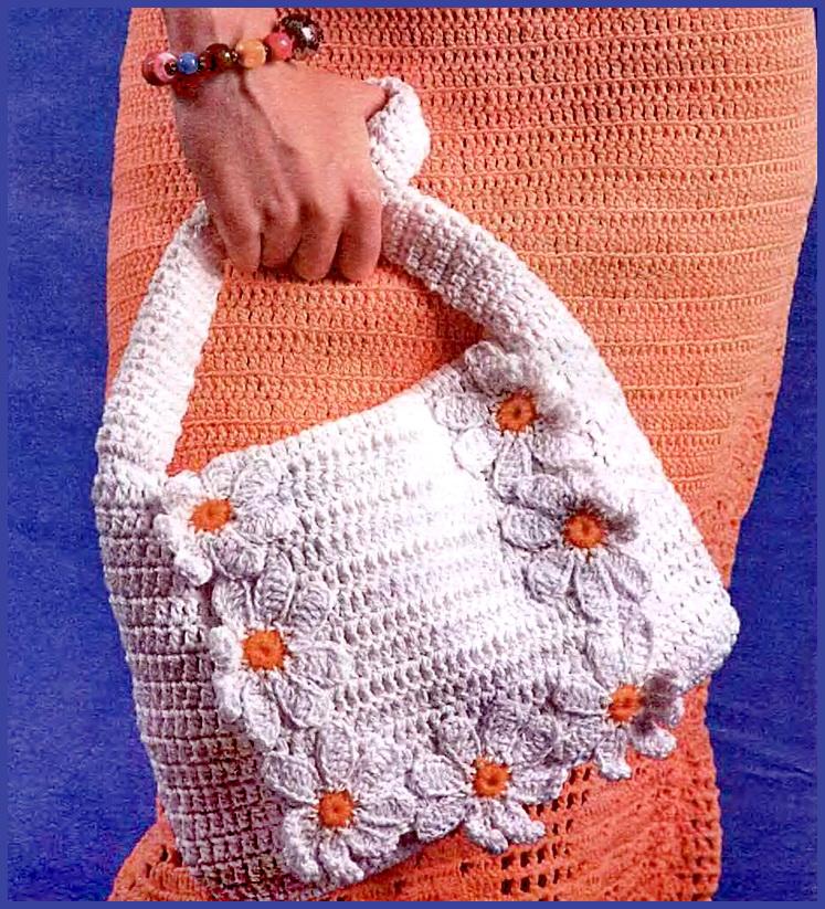 Вязание крючком сумки.