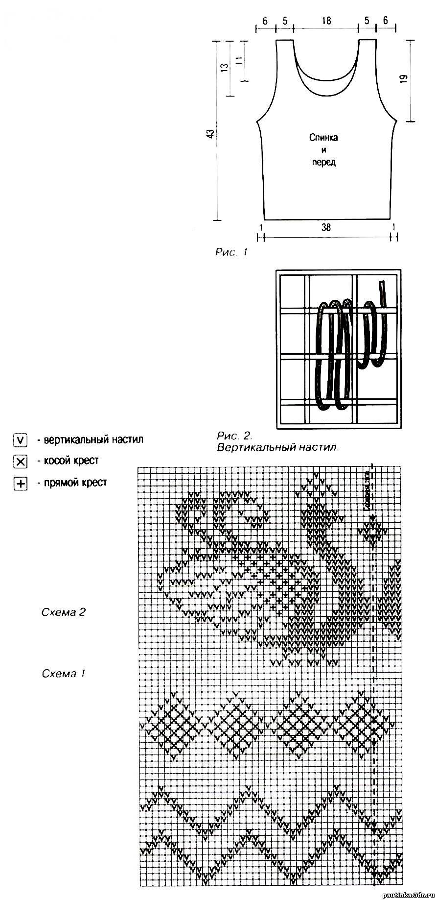 Крючком схема филейная сетка