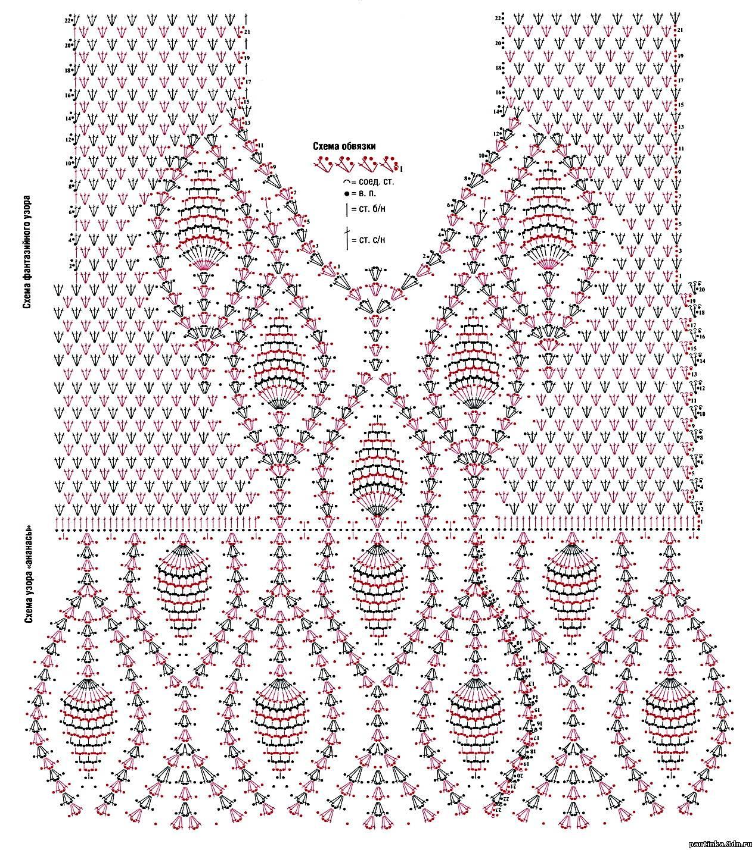 схемы и описание вязания крючком костюмов