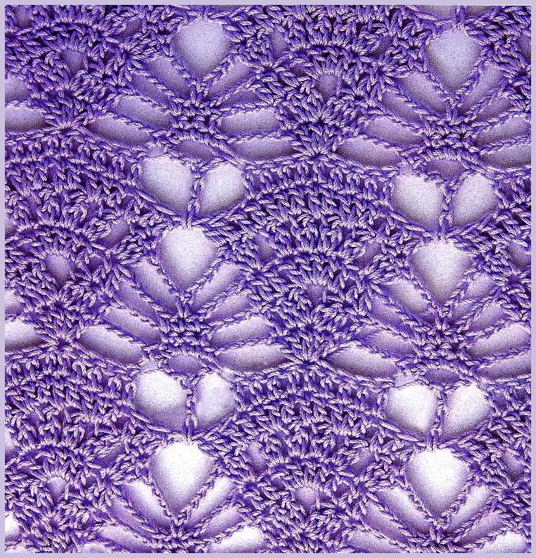 Вязание ажурного узора.