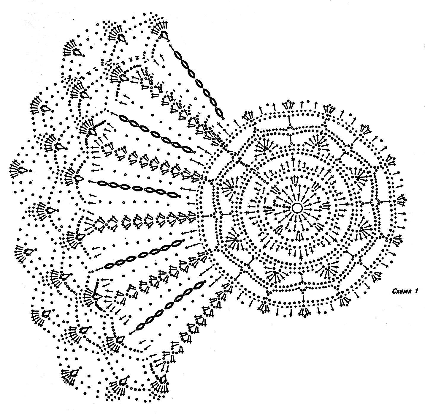 Схема узора вязание крючком летних шляпок 875