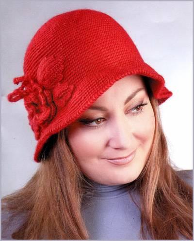 Здесь даны схемы вязания для трёх разновидностей верха шляпки - классический круглый колпачок, колпачок вытянутый и...