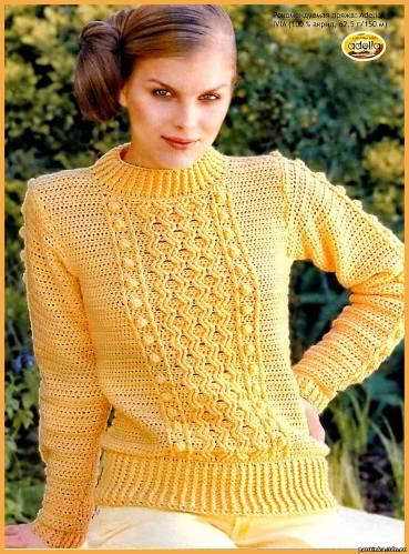Как связать пуловер.  Схема вязания пуловера.