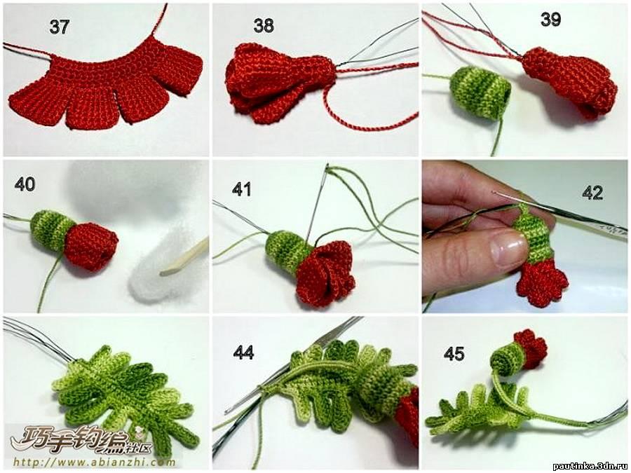 Схемы вязания крючком воротников для платья