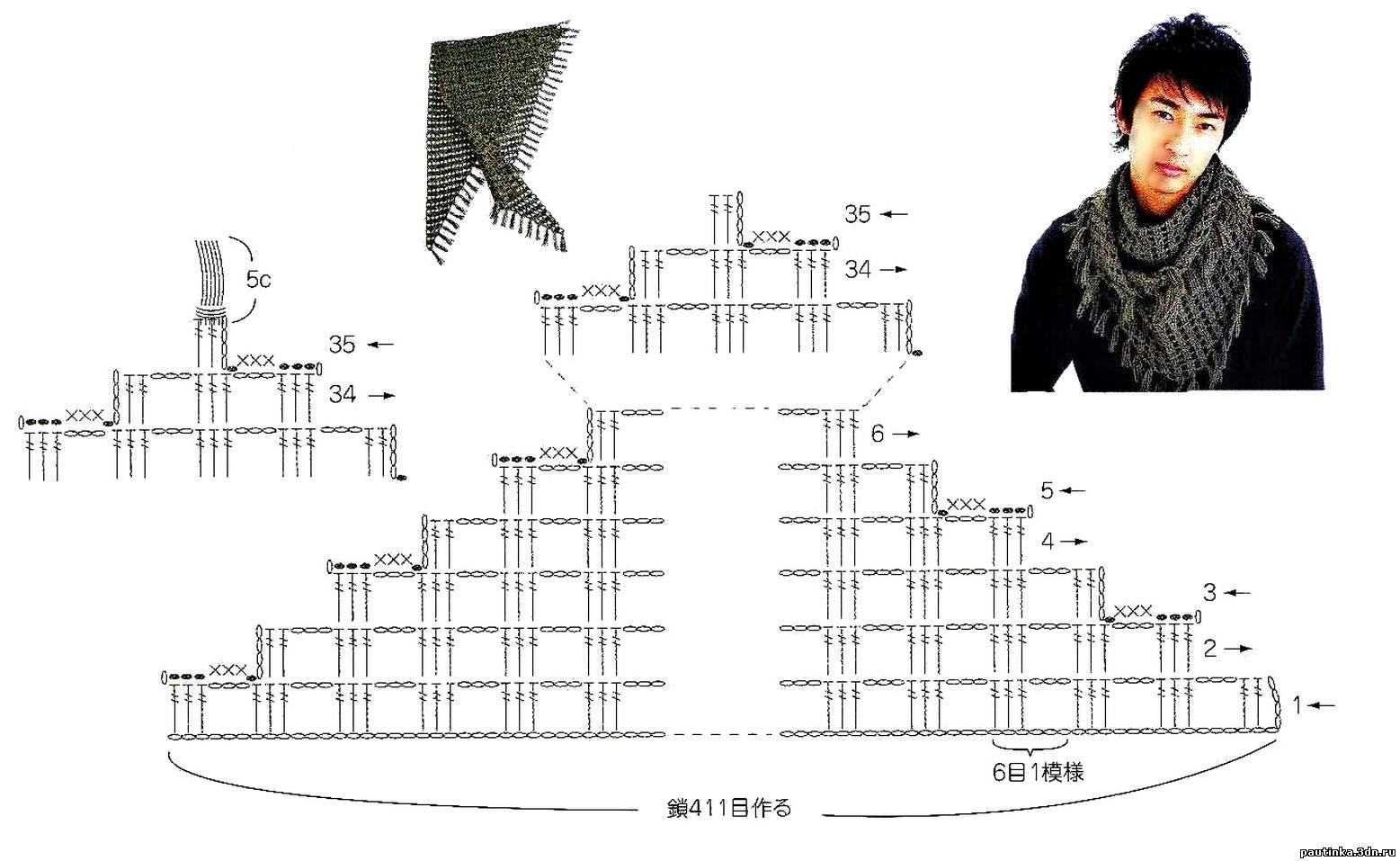 Вязание крючком бактус схема и фото