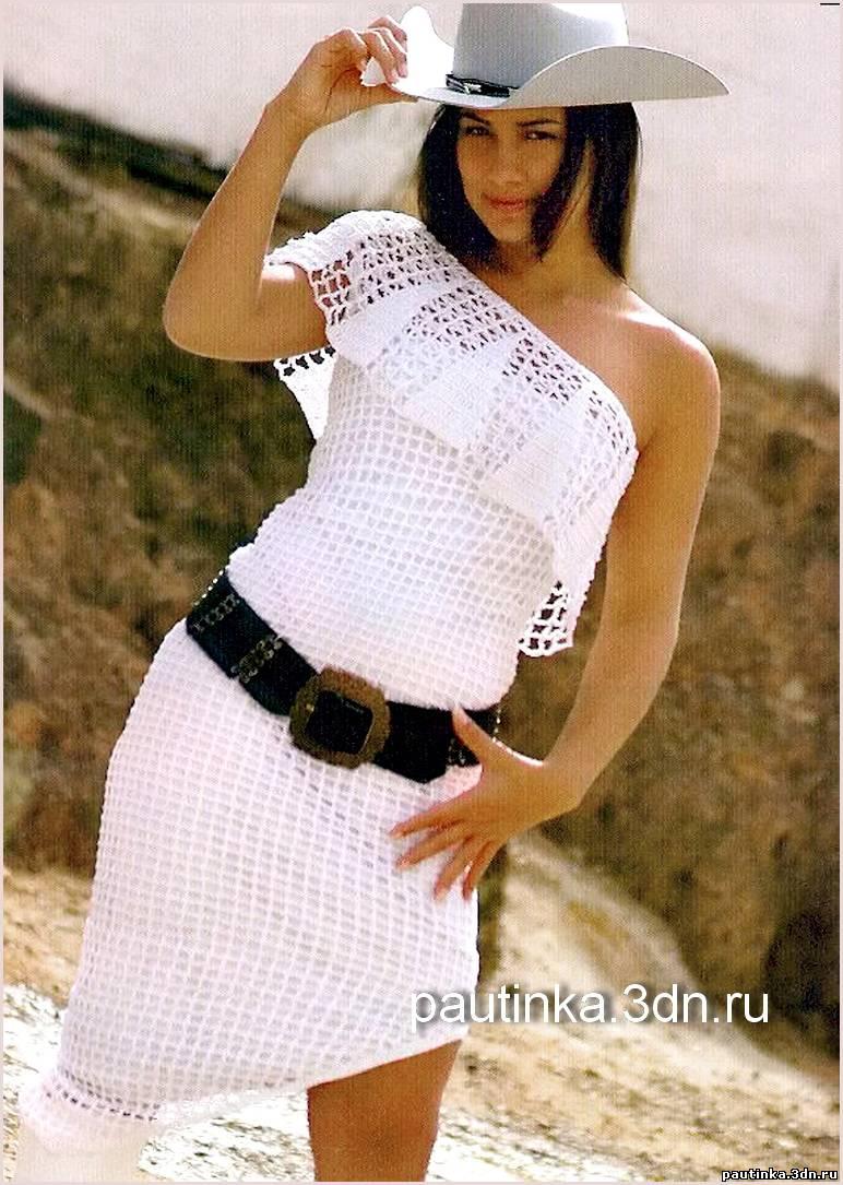 Вязаные летние платья фото.