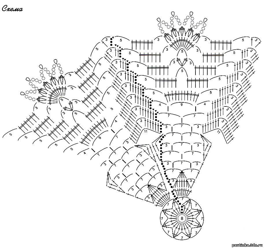 Зонт крючок вязание схема 713