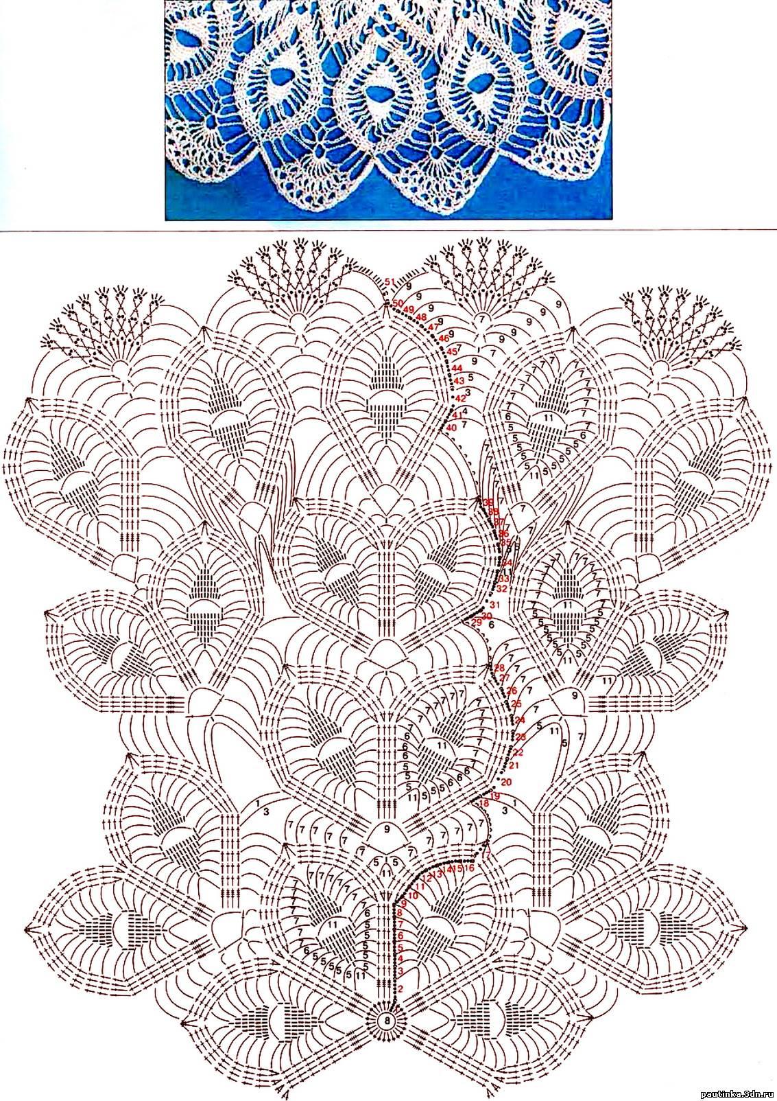 Вязание скатерти крючком схемы бесплатно