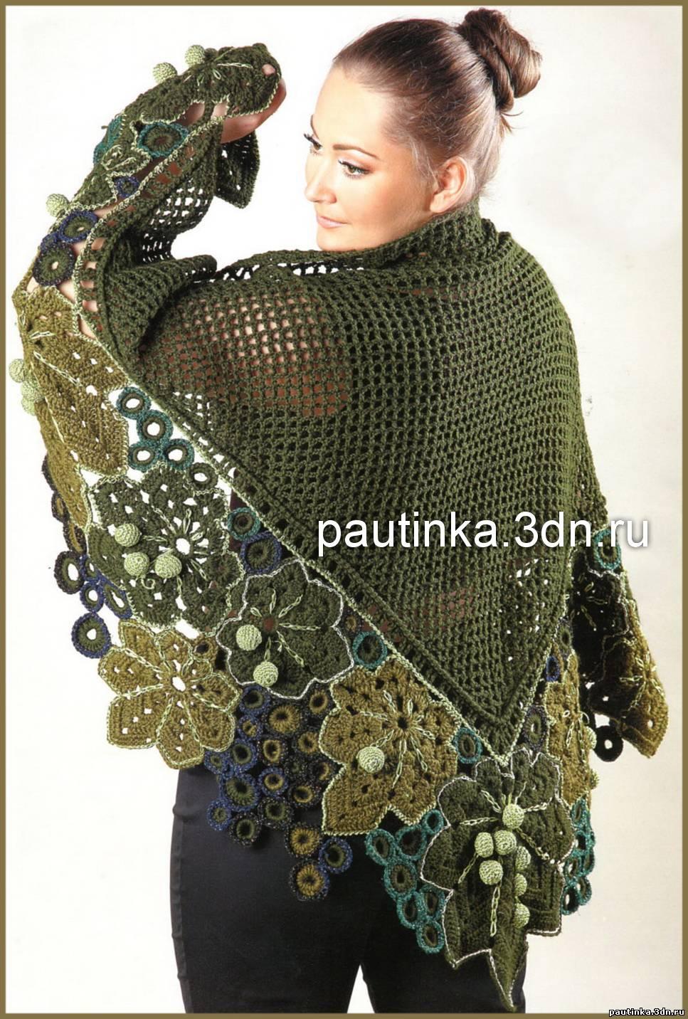 Платье крючком узором ананас схема фото 836